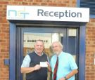 Brian Lester (Beacon League Chairman) and Stuart Dudwell (NDT Midlands) Lester Charity cup sponsors