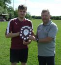 Ian Gould (Beacon League) presents the Beacon Subsidiary Cup to George Armstrong of Pendeford FC